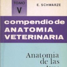Libros de segunda mano: COMPENDIO DE ANATOMÍA VETERINARIA TOMO V. Lote 171017949