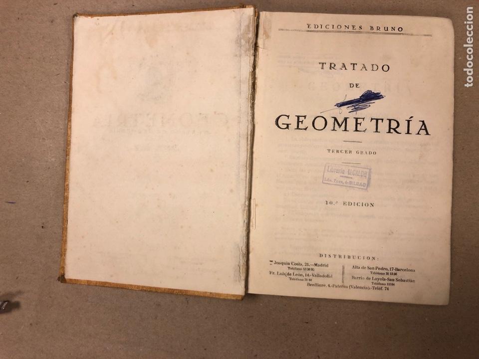 Libros de segunda mano de Ciencias: TRATADO DE GEOMETRÍA (TERCER GRADO). EDICIONES BRUÑO 1958. - Foto 3 - 156731254