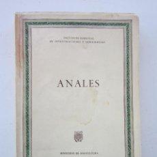 Libros de segunda mano: ANALES. MADRID: INSTITUTO FORESTAL DE INVESTIGACIONES Y EXPERIENCIAS, 1960. Lote 156840958