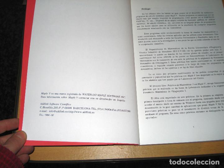 Libros de segunda mano de Ciencias: PRÁCTICAS DE MATEMÁTICAS I CON MAPLE V (LIBRERÍA UNIVERSITARIA DE BARCELONA) - Foto 2 - 157006586