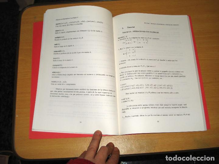 Libros de segunda mano de Ciencias: PRÁCTICAS DE MATEMÁTICAS I CON MAPLE V (LIBRERÍA UNIVERSITARIA DE BARCELONA) - Foto 3 - 157006586