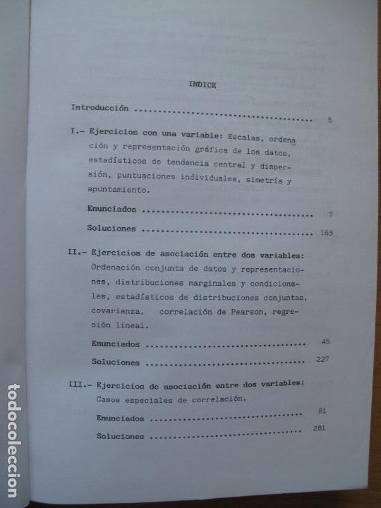Libros de segunda mano de Ciencias: PROBLEMAS RESUELTOS DE ESTADÍSTICA DESCRIPTIVA Y PROBABILIDAD.- JUAN CARRO RAMOS.- EDIC. AUTOR. 1985 - Foto 2 - 157383590