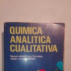 Libros de segunda mano de Ciencias: QUÍMICA ANALÍTICA CUALITATIVA - 13ª EDICIÓN 1989 PARANINFO - BURRIEL, LUCENA, ARRIBAS, HERNÁNDEZ. Lote 157464530