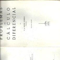 Libros de segunda mano de Ciencias: PROBLEMAS DE CALCULO DIFERENCIAL J A MARIN TEJERIZO. Lote 157653518