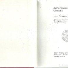 Libros de segunda mano de Ciencias: ASTROPHYSICAL CONCEPTS MARTIN HARWIT. Lote 157755862