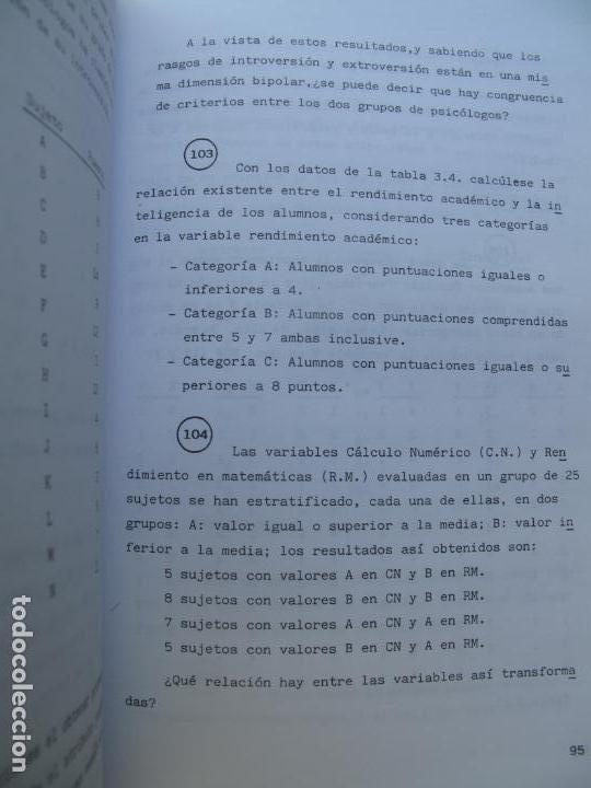 Libros de segunda mano de Ciencias: PROBLEMAS RESUELTOS DE ESTADÍSTICA DESCRIPTIVA Y PROBABILIDAD.- JUAN CARRO RAMOS.- EDIC. AUTOR. 1985 - Foto 4 - 157383590