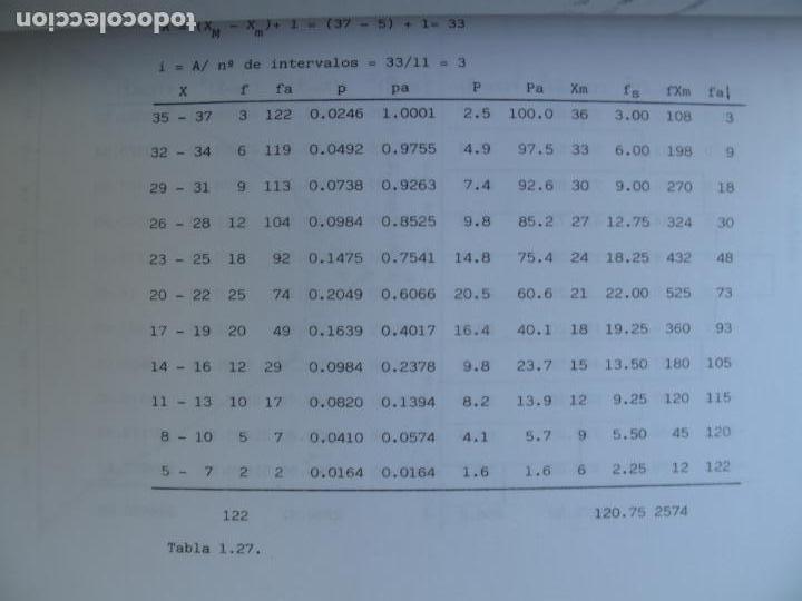 Libros de segunda mano de Ciencias: PROBLEMAS RESUELTOS DE ESTADÍSTICA DESCRIPTIVA Y PROBABILIDAD.- JUAN CARRO RAMOS.- EDIC. AUTOR. 1985 - Foto 6 - 157383590