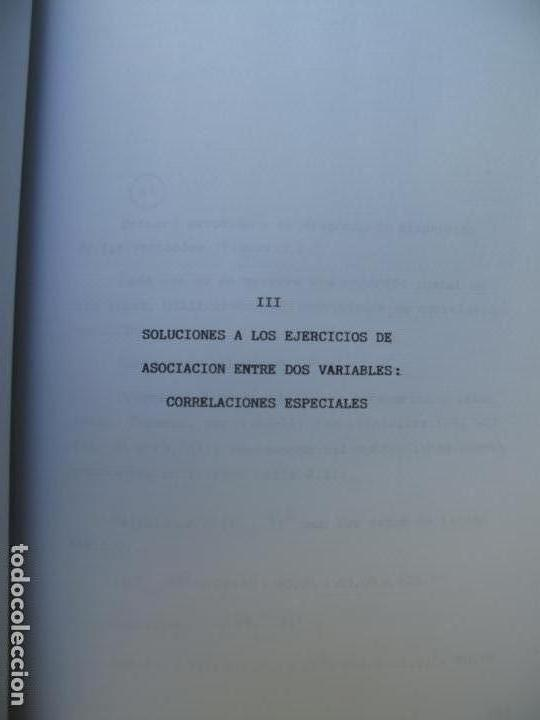 Libros de segunda mano de Ciencias: PROBLEMAS RESUELTOS DE ESTADÍSTICA DESCRIPTIVA Y PROBABILIDAD.- JUAN CARRO RAMOS.- EDIC. AUTOR. 1985 - Foto 8 - 157383590