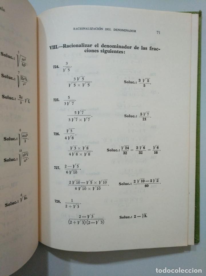 Libros de segunda mano de Ciencias: ALGEBRA Y TRIGONOMETRIA. SOLUCIONARIO. EDICIONES BRUÑO. TDK378 - Foto 2 - 158673946