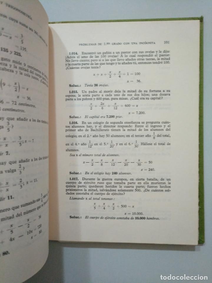 Libros de segunda mano de Ciencias: ALGEBRA Y TRIGONOMETRIA. SOLUCIONARIO. EDICIONES BRUÑO. TDK378 - Foto 3 - 158673946