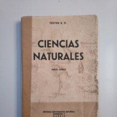 Libros de segunda mano: CIENCIAS NATURALES. TEXTOS E.P. SEXTO CURSO. EDITORIAL BIBLIOGRAFICA ESPAÑOLA. TDK380. Lote 158707370