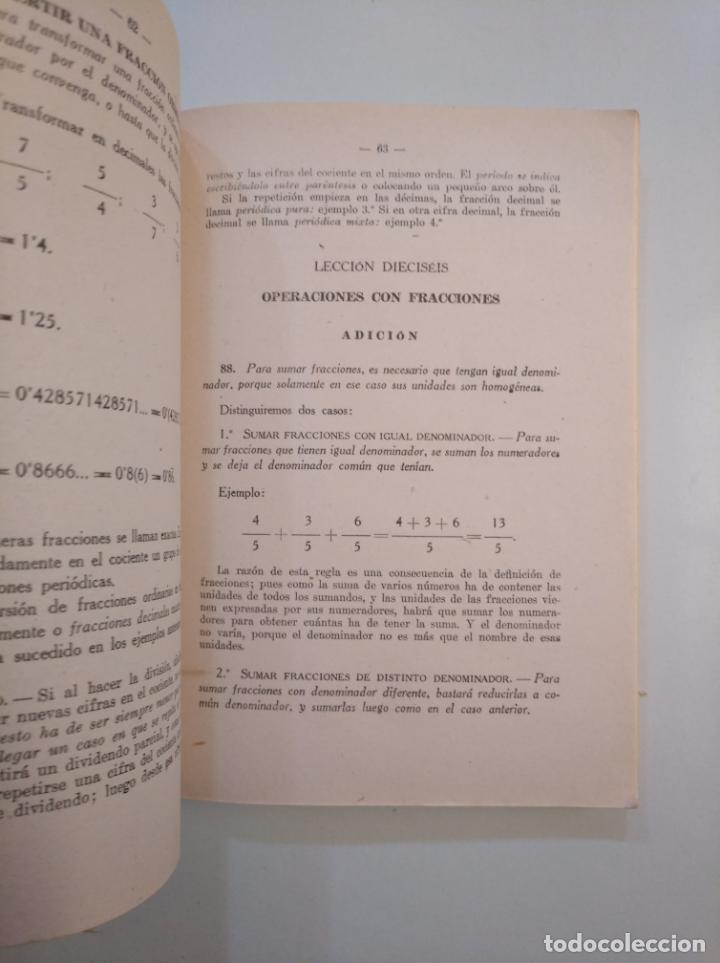 Libros de segunda mano de Ciencias: MATEMATICAS. TEXTOS E.P. PRIMER CURSO. EDITORIAL BIBLIOGRAFICA ESPAÑOLA 1948 MADRID. TDK380 - Foto 2 - 158729550