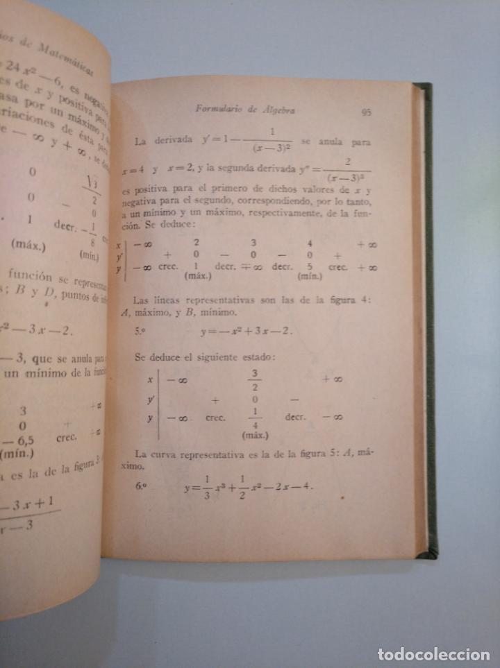 Libros de segunda mano de Ciencias: Formularios de matemáticas. EDITORIAL GARCÍA ARDURA. 1944. TDK377A - Foto 2 - 159112158