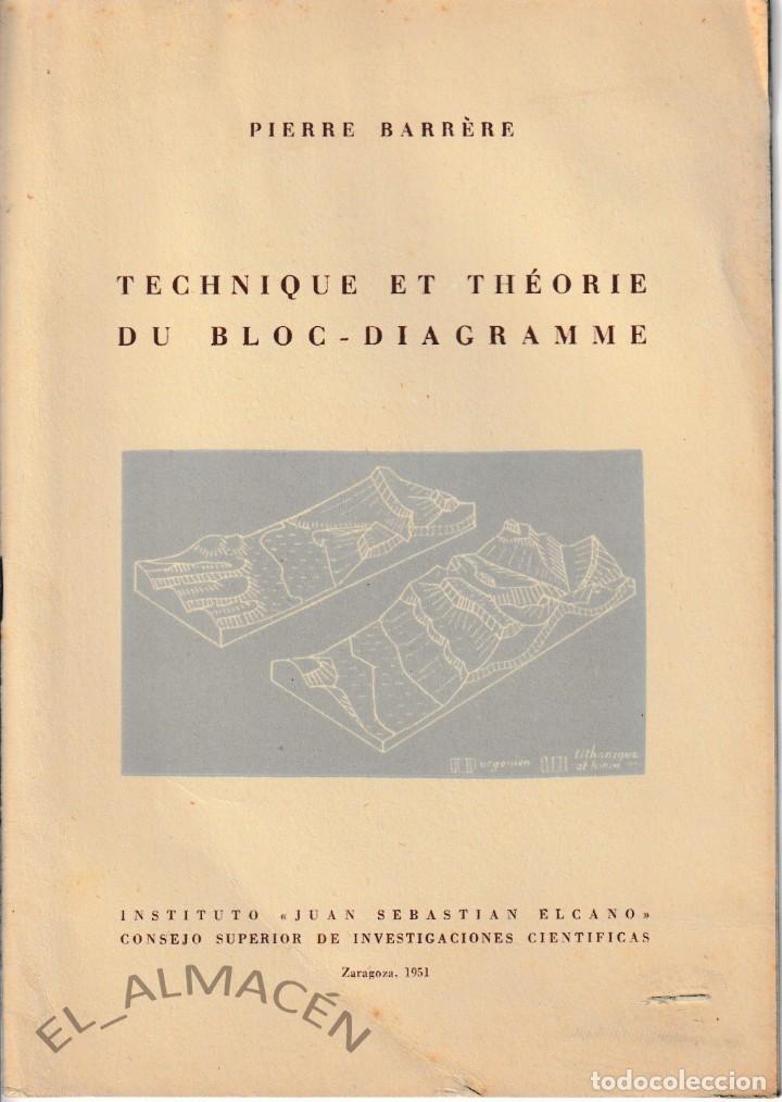 TECHNIQUE ET THEORIE DU BLOC-DIAGRAMME (PIERRE BARRERE 1951) SIN USAR (Libros de Segunda Mano - Ciencias, Manuales y Oficios - Paleontología y Geología)