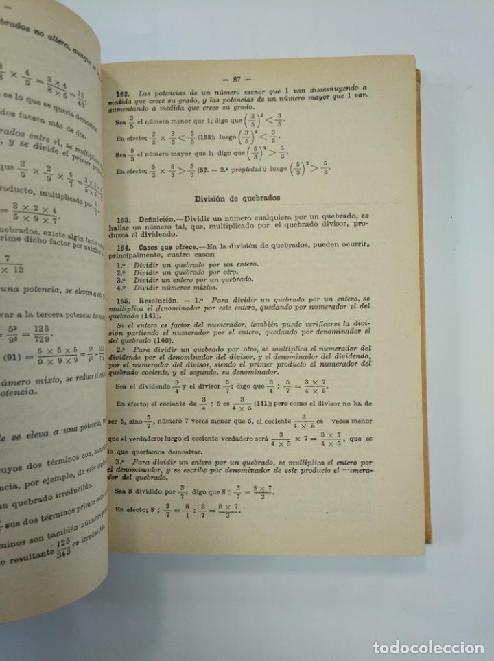 Libros de segunda mano de Ciencias: ARITMETICA RAZONADA Y NOCIONES DE ALGEBRA, TRATADO TEORICO PRACTICO J. DALMAU CARLES 1960. TDK382 - Foto 2 - 159498178