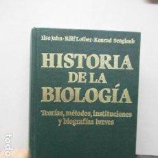Libros de segunda mano: HISTORIA DE LA BIOLOGÍA. TEORÍAS, MÉTODOS, INSTITUCIONES Y BIOGRAFÍAS BREVES, ILSE JAHN; ROLF LO?THE. Lote 159713446
