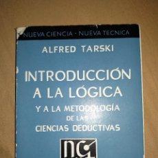 Libros de segunda mano de Ciencias: INTRODUCCION A LA LOGICA Y A METODOLOGIA DE LAS CIENCIAS DEDUCTIVAS ESPASA CALPE ALFRED TARSKI. Lote 159815374