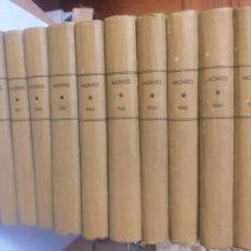 Libros de segunda mano de Ciencias: AGRICULTURA . REVISTA MONTES INGENIEROS DE MONTES AÑOS 12 TOMOS. Lote 159735416