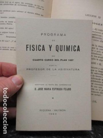 Libros de segunda mano de Ciencias: FISICA Y QUIMICA (CUARTO CURSO DEL BACHILLERATO ELEMENTAL PLAN 1957). - Foto 14 - 160431918