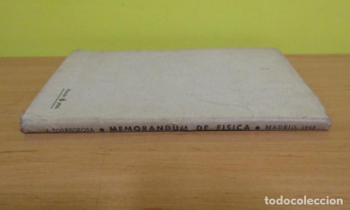 Libros de segunda mano de Ciencias: MEMORANDUM DE FISICA - J. TORREGROSA - LIBRERIA ENRIQUE PRIETO MADRID 1943 (SELLO LIBRERIA BASTINOS) - Foto 2 - 160649662