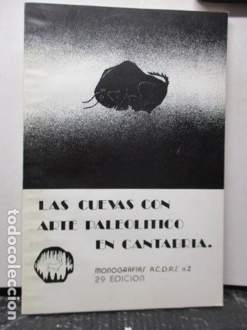 LAS CUEVAS CON ARTE PALEOLITICO EN CANTABRIA / DIFICIL (Libros de Segunda Mano - Ciencias, Manuales y Oficios - Paleontología y Geología)