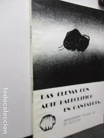 Libros de segunda mano: Las Cuevas con Arte Paleolitico en Cantabria / DIFICIL - Foto 2 - 161024474