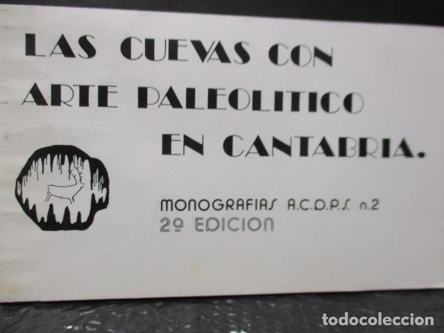Libros de segunda mano: Las Cuevas con Arte Paleolitico en Cantabria / DIFICIL - Foto 3 - 161024474