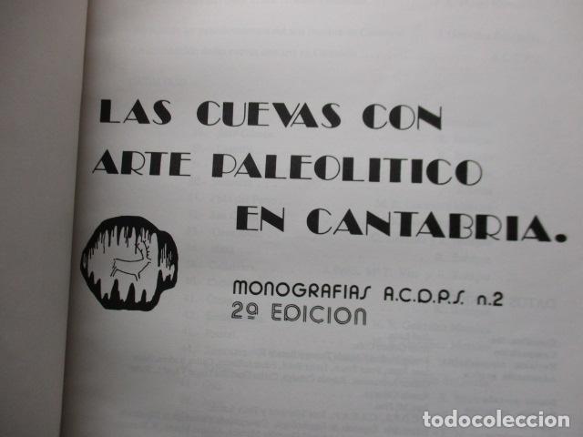 Libros de segunda mano: Las Cuevas con Arte Paleolitico en Cantabria / DIFICIL - Foto 7 - 161024474