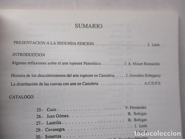 Libros de segunda mano: Las Cuevas con Arte Paleolitico en Cantabria / DIFICIL - Foto 10 - 161024474