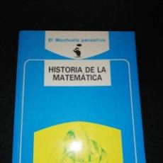 Libros de segunda mano de Ciencias: HISTORIA DE LA MATEMÁTICA ,JUAN ARGÜELLES RODRÍGUEZ. Lote 161173038