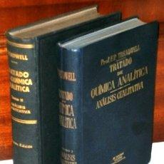 Libros de segunda mano de Ciencias: TRATADO DE QUÍMICA ANALÍTICA 2T (CUALITATIVA Y CUANTITATIVA) POR TREADWELL DE M. MARÍN EN BARCELONA. Lote 27001431