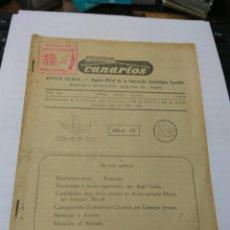 Libros de segunda mano: NUESTROS CANARIOS REVISTA TÉCNICA FEDERACIÓN ORNITOLOGICA ESPAÑOLA NUM.30 AÑO 1962. Lote 161808592