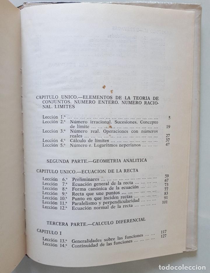 Libros de segunda mano de Ciencias: MATEMÁTICAS 6 CURSO DE BACHILLERATO (PLAN 1957) / EDICIONES BRUÑO 1965 - Foto 6 - 162474166