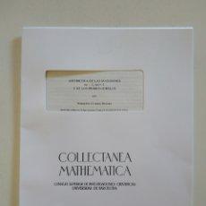 Libros de segunda mano de Ciencias: COLLECTANEA MATHEMATICA. VOL. 37, FASC. 3. NORBERTO CUESTA DURATI. ARITMÉTICA. CSIC, 1986.. Lote 162616448