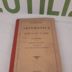 Libros de segunda mano de Ciencias: ELEMENTOS DE AROTMETICA.G.M BRUÑO.1914.. Lote 162930293