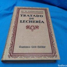 Libros de segunda mano: LIBRO TRATADO DE LECHERIA, DR. W. FLEISCHMANN. GUSTAVO GILÍ-EDITOR 1924. Lote 163015825