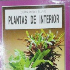 Libros de segunda mano: PLANTAS DE INTERIOR. GUIAS DE JARDIN BLUME. WILLIAM DAVIDSON. 1990.. Lote 163042718