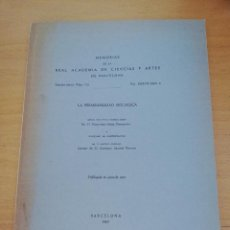 Libros de segunda mano: LA PERMEABILIDAD BIOLÓGICA (DR. FRANCISCO PONZ PIEDRAFITA). Lote 163567566