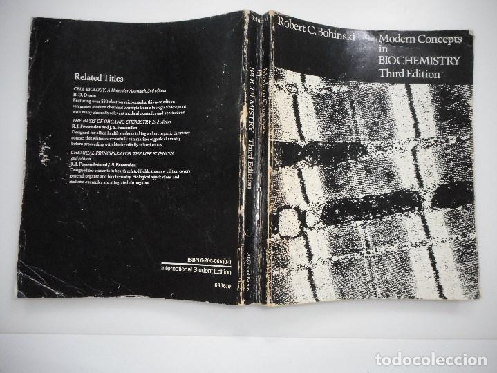 ROBERT C. BOHINSKI MODERN CONCEPTS IN BIOCHEMISTRY.3ª EDITION Y94009 (Libros de Segunda Mano - Ciencias, Manuales y Oficios - Física, Química y Matemáticas)