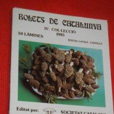 Libros de segunda mano: BOLETS DE CATALUNYA IV COL·LECCIO (LAMINAS 151 A 200) - SOCIETAT CATALANA MICOLOGIA 1985. Lote 163916138