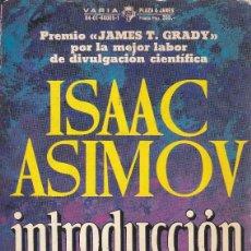 Libros de segunda mano de Ciencias: INTRODUCCION A LA CIENCIAISAAC ASIMOV1973PLAZA & JANES. Lote 164571462
