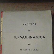 Libros de segunda mano de Ciencias: PROBLEMAS DE TERMODINÁMICA (MADRID, 1961). Lote 164612978