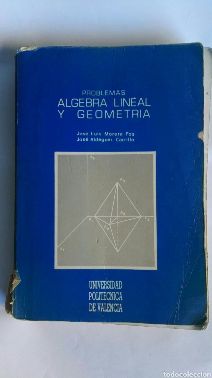 ÁLGEBRA LINEAL Y GEOMETRÍA UNIVERSIDAD POLITÉCNICA DE VALENCIA (Libros de Segunda Mano - Ciencias, Manuales y Oficios - Física, Química y Matemáticas)
