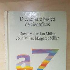 Libros de segunda mano de Ciencias: DICCIONARIO BÁSICO DE CIENTÍFICOS. MILLAR. ED TECNOS. 1994. Lote 164672106
