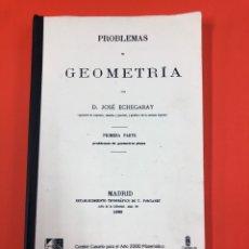 Libros de segunda mano de Ciencias: PROBLEMAS DE GEOMETRÍA. PRIMERA PARTE. JOSÉ ECHEGARAY. UNIVERSIDAD LAS PALMAS 2000. FACSÍMIL. Lote 164799936