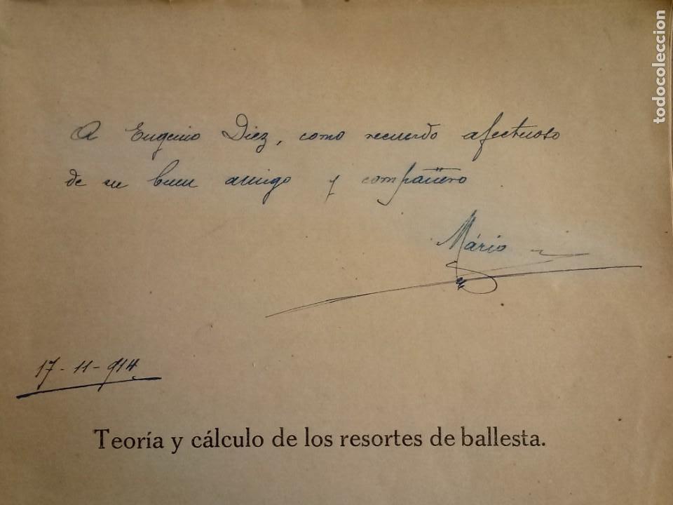 Libros de segunda mano de Ciencias: Resortes de Ballesta Ferrocarriles Mario Viani 1914 - Foto 2 - 164913466