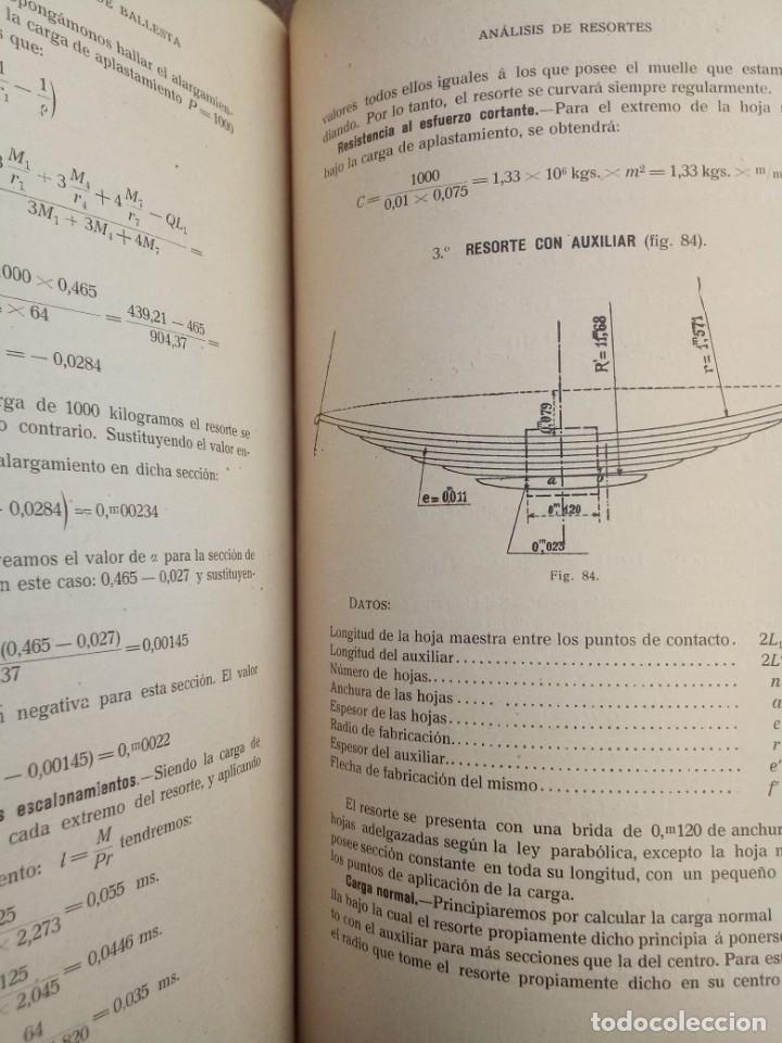 Libros de segunda mano de Ciencias: Resortes de Ballesta Ferrocarriles Mario Viani 1914 - Foto 4 - 164913466