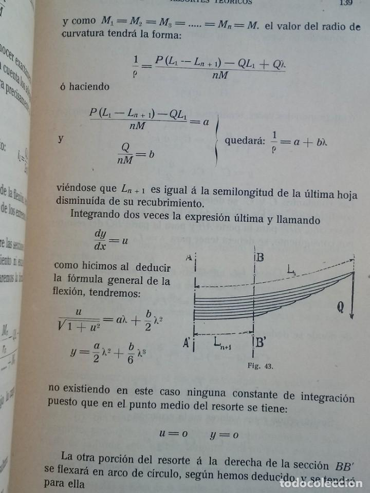 Libros de segunda mano de Ciencias: Resortes de Ballesta Ferrocarriles Mario Viani 1914 - Foto 5 - 164913466