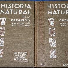 Libros de segunda mano: HISTORIA NATURAL DE LA CREACIÓN - 2 TOMOS - JOSE M. BORRÁS - EDICIONES HYMSA. Lote 165519222