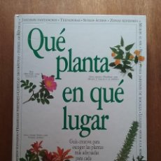 Livres d'occasion: QUE PLANTA EN QUE LUGAR, ROY LANCASTER, BLUME, 1996. Lote 165882758